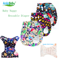 Colorful Prints Cloth Diapers Reusable Diaper All In One Size Machine Washable Adjustable Cloth Nappies R-Series
