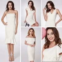 New Arrival Cocktail Dresses Ever Pretty EP05967 Women's V neck Elegant Party Dresses with Ruffles Robe Cocktail