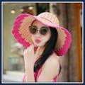 Весна лето досуг cap дети летние большой вдоль крышки лицо отдых пляж шляпа солнца шляпа солнца складной пляж шляпа
