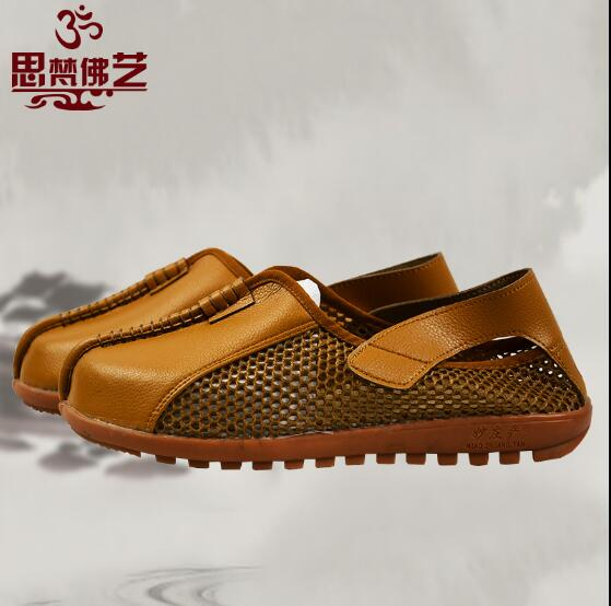 Summer Rohan shoes Leather Monk shoes Fashion classic style Buddhist monk