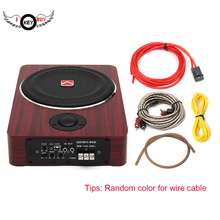 I Key Buy 8 inch 600W Wood Under Seat Car Subwoofers Active Speaker 12V Auto Car Audio Stereo Bass Sub Woofer Amplifier Speakers все цены