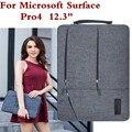 Saco luva do portátil para microsoft surface pro 4 tablet moda pc case titular mão bolsa de design à prova d' água tampa do teclado + Stylus