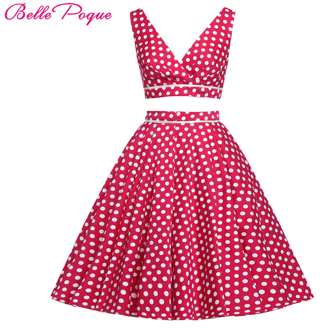 Mujeres rockabilly swing ropa pin up vestido Polka DOTS vestidos ...