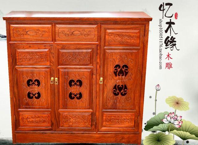 4e1064a4beae72 Palissandre meubles, en bois de rose africain, en bois massif triple  armoire, chinois