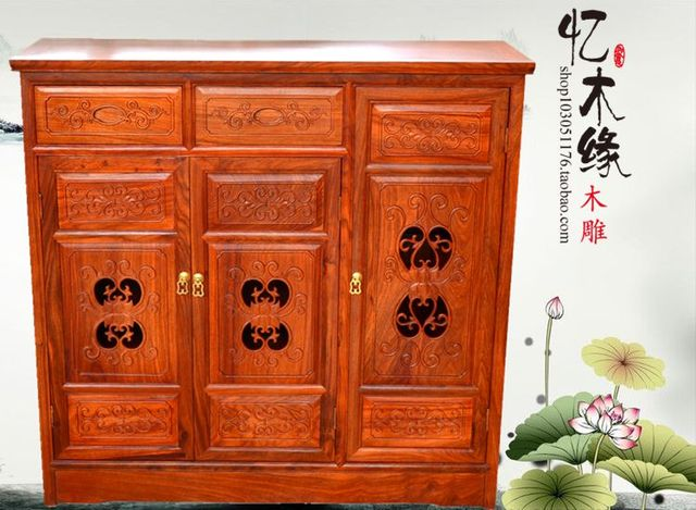 Rosewood Furniture, African Rosewood, Solid Wood Triple Cabinet, Chinese  Classical Shoe Cabinet,