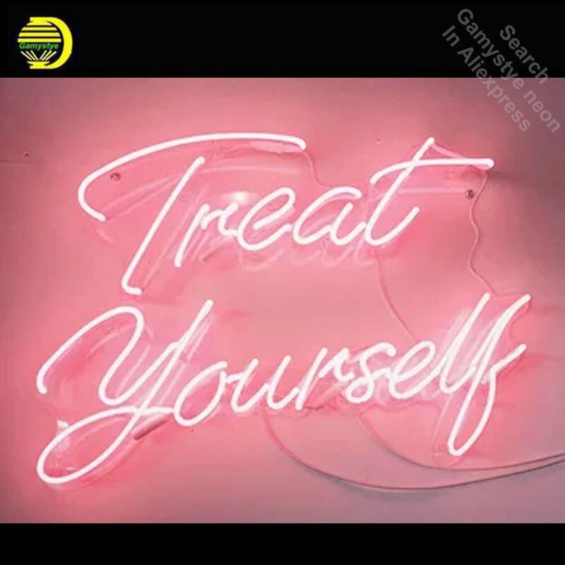 Offrez-vous enseigne au néon décorer fenêtres maison Tube de verre amour affichage artisanat Restaurant signes panneau personnalisé lampe au néon