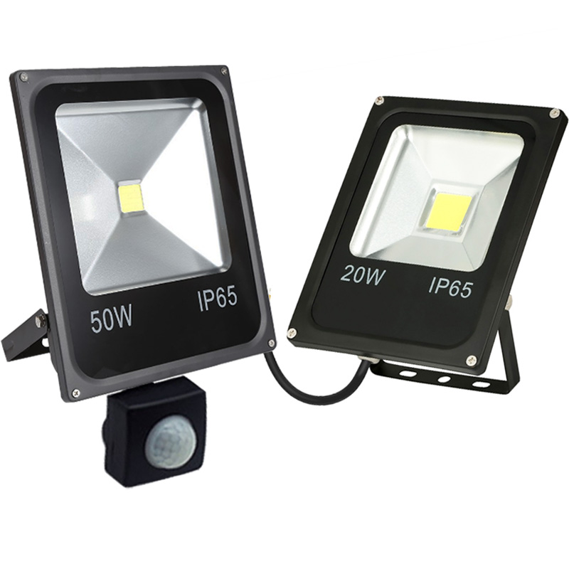 <font><b>10W</b></font> 20W 30W 50W <font><b>LED</b></font> Flood lights Pir Motion sensor Outdoor Lighting <font><b>Reflector</b></font> Waterproof IP65 Floodlights Garden Wall Lamp image