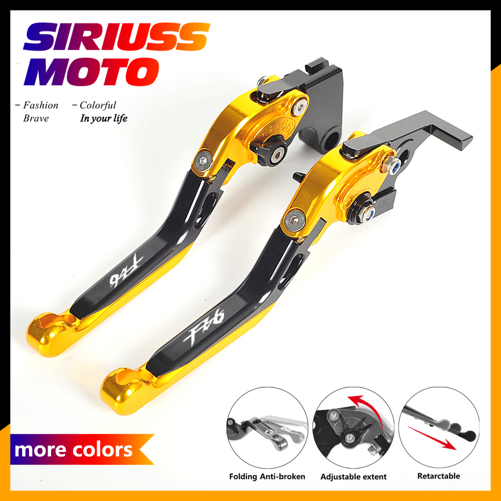 All CNC Motorcycle Foldable Lever Motocross Brake Clutch Levers Case for Yamaha FZ6 Fazer ZF 6 2004-2010 ergonomic new cnc adjustable right angled 170mm brake clutch levers for yamaha ybr125 2004 2010
