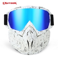 KUTOOK Windproof Motorcycle Goggles HD Lenses Bicycle Glasses Men Wowen Outdoor Dustproof Anti fog Skiing Snowboard Mask