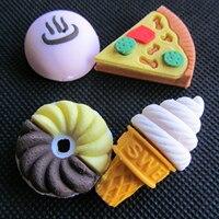 10 pack (4 шт./компл. Kawaii Мороженое и торт резиновая Ластики комплект школьной канцелярии стереть принадлежности Дети Подарки