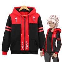 Anime Coat Fate Apocrypha Amakusa Shirou Tokisada Costume Unisex Zipper Jacket Hoodie Sweatshirt Coat Size M-2XL