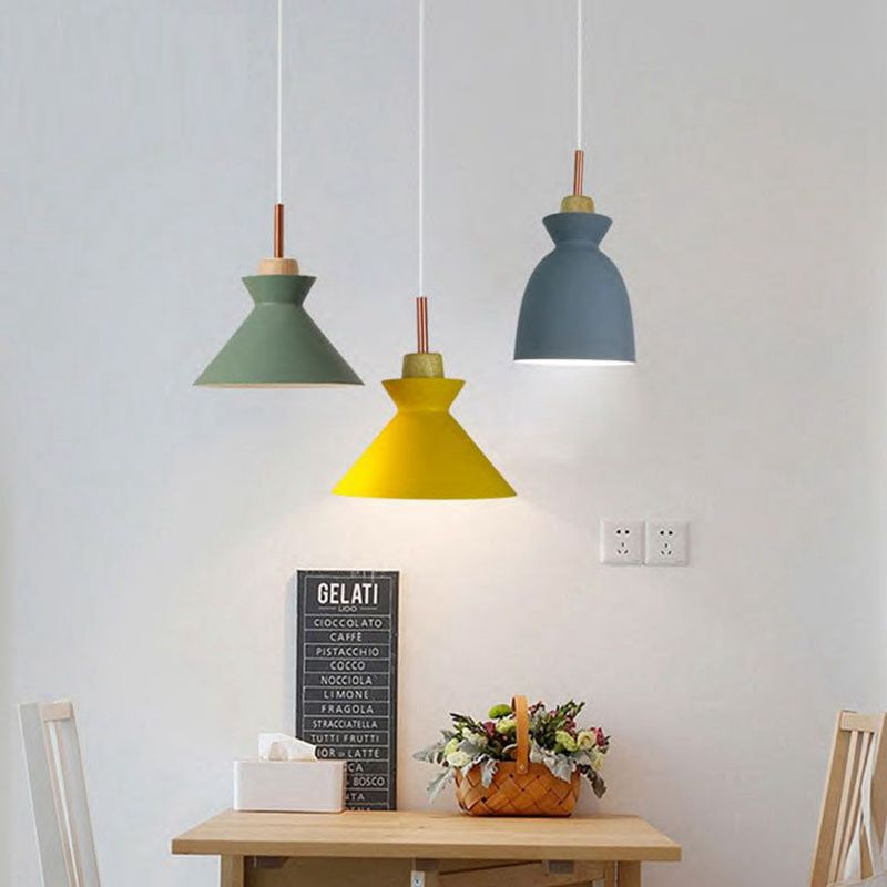 LukLoy Pendant Lamp Lights Macaroon Colorful LED Modern Lamp Hanglamp for Kitchen Island Dining Room Lighting