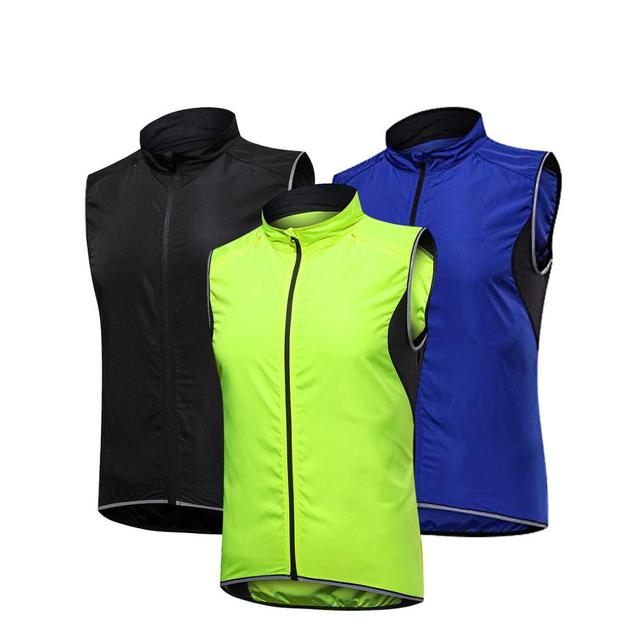 2019 New Mens Cycling Vest Breathable Reflective Windbreaker Sleeveless Cycling Windproof Jersey Ropa Ciclismo Windstopper