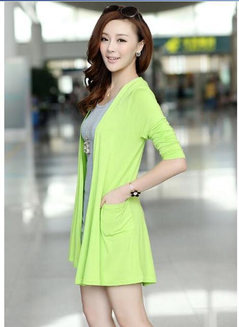 New Fashion Women brand Cardigan Sweater Poncho Lady Long sleeve Casual Slim 100% Cotton Solid female Knitwear Coat Kimono D150 3