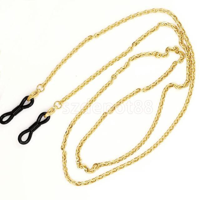 400f0c1b64 Cadena de cordón de correa de cuello dorado inoxidable para gafas de sol