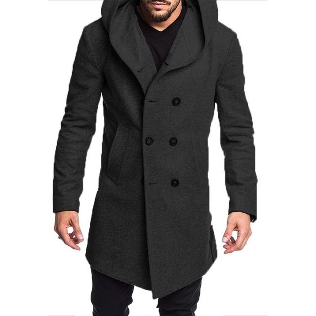 ZOGAA Mens Trench Coat Long...
