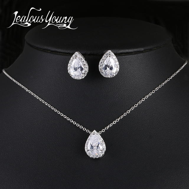 Water Drop Cubic Zirconia Jewelry Set