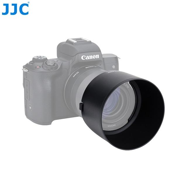 JJC Camera Lens Hood For Canon EF M 32mm f/1.4 STM Lens On Canon EOS M200 M100 M50 M10 M6 Mark II M5 M3 Replaces Canon ES 60