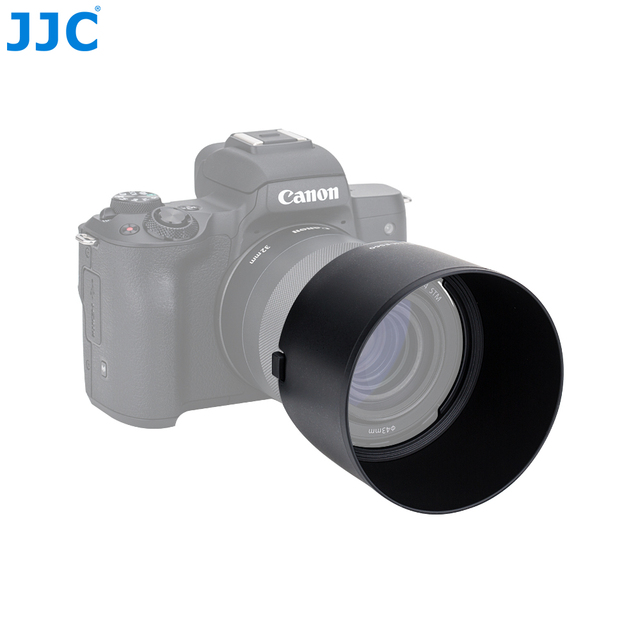 JJC LH-ES60 Lens Hood For Canon EF-M 32mm f/1.4 STM Lens Replaces ES-60 Allows Putting on a 43mm Filter And a Lens Cap