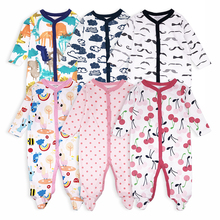 3pcs Baby Girls Boy Footed Rompers Comfortable Newborn Pajamas Clothes Cartoon Printed Infant Jumpsuit Romper Baby Clothing set cospot rush sale newborn footed jumpsuit kids winter autumn pajamas bebes body suit footies baby boy girl clothes 3pcs lot 30d