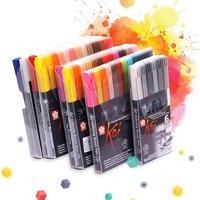 Sakura Koi XBR раскраска кисть маркер ручка Гибкая кисть маркер на водной основе чернильные принадлежности для рисования художественная цветная ...