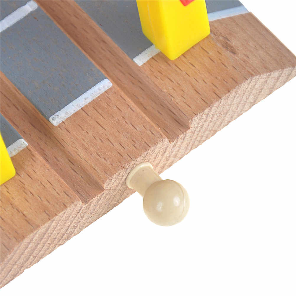 Wooden Railroad Crossing Bridge Train Slot Track Toys Railway Accessories  For Baby Children Gift High Quality