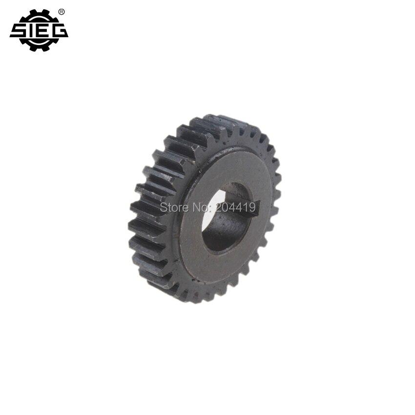 C2-500C 6PCS 45# Steel Change Gear Set SIEG C2 C3 Steel Change Gear Metric Type