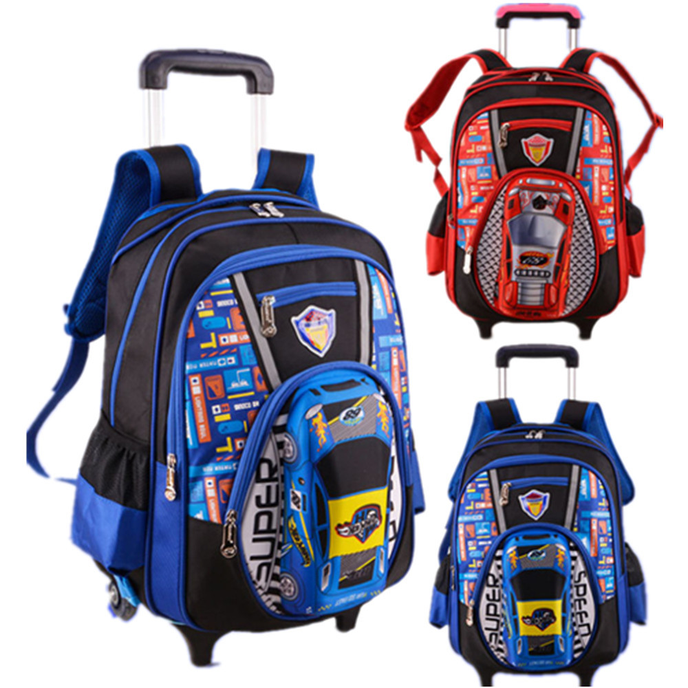 Bags for school on sale - Hot Sale 2015 Newest Children School Bag Boys Wheels Removable Trolley Backpack Wheeled Bags Kids Travel
