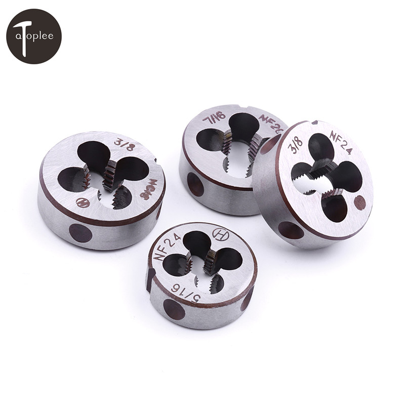 1PCS 5/16-24 3/8-24 7/16-20 3/8-16 Right-handed Threading Dies For DIY DIE Alloy Steel Wrench Manual Processing Threads