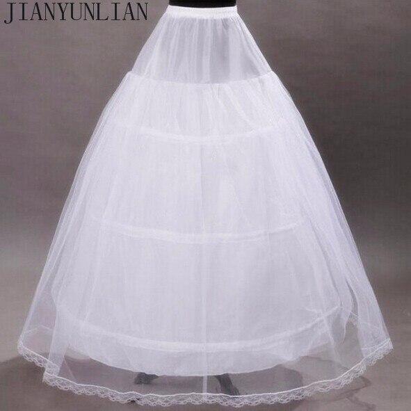 2018 Brand New Petticoats White 3 Hoops 2 Layers Ball Gown Bride Underskirt Formal Dress Crinoline Stock Wedding Accessories