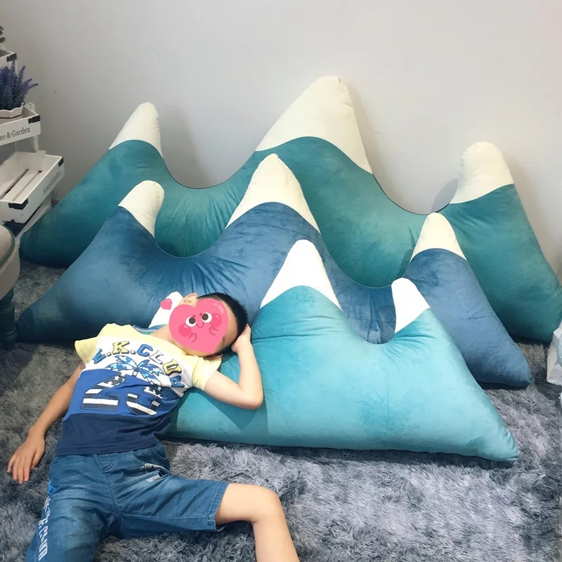 1,15 м крепление Fuji набивная Подушка Снежная гора Айсберг поясная подушка гостиная плюшевая Детская комната Декор новорожденная кровать укр