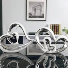 High quality Ceramic Vase  ceramic Decoration Ceramic heart shaped Home Furnishing Articles creative Figurines ceramic