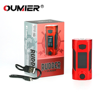 100% Original OUMIER Rudder 200W Box Mod Electronic Cigarettes 18650 Mod with 200W Max Output E Cigarette Vape Mod No Battery