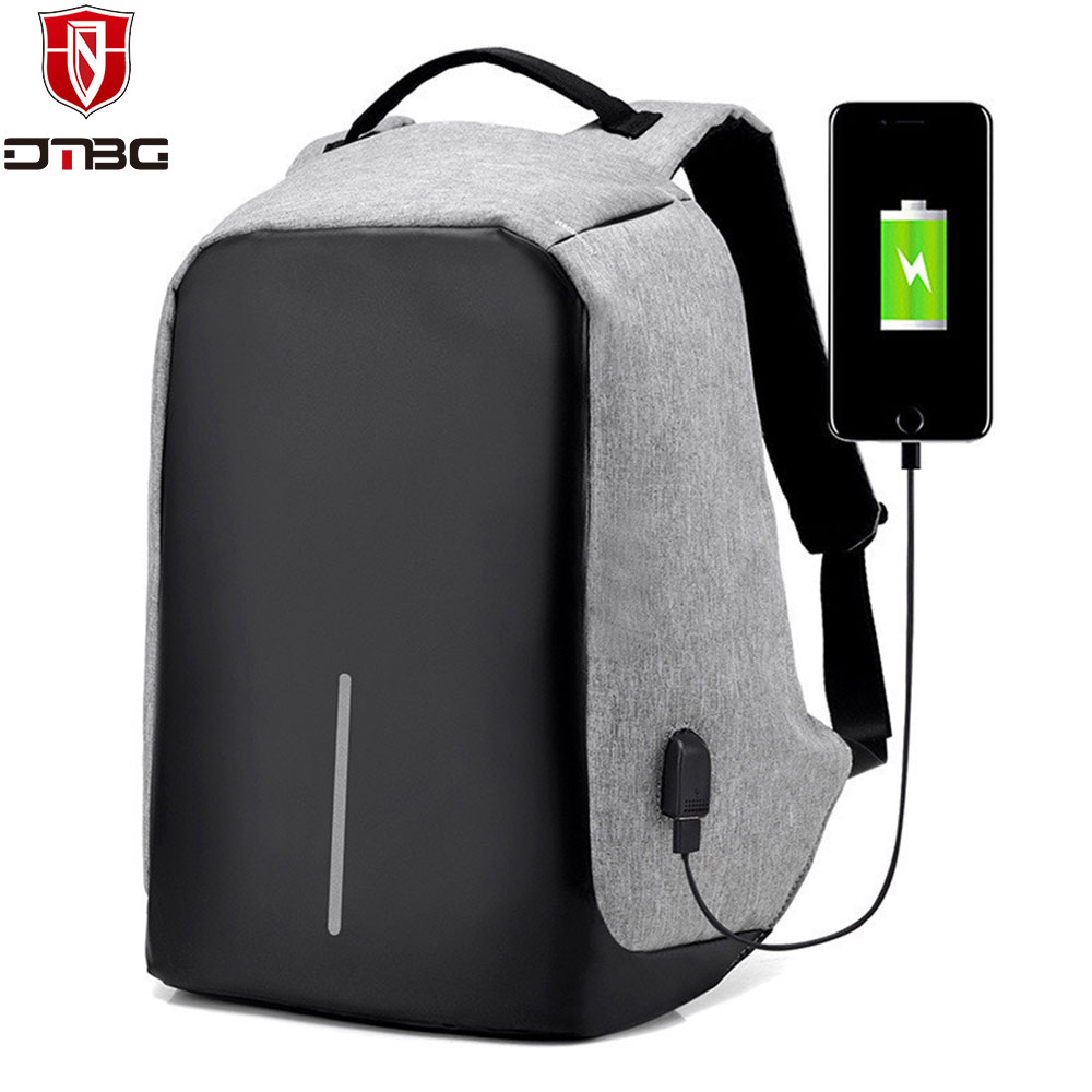 DTBG Anti theft Laptop Backpack Waterproof School Bag 15.6 inch With USB Charging Port Design for Trip Business