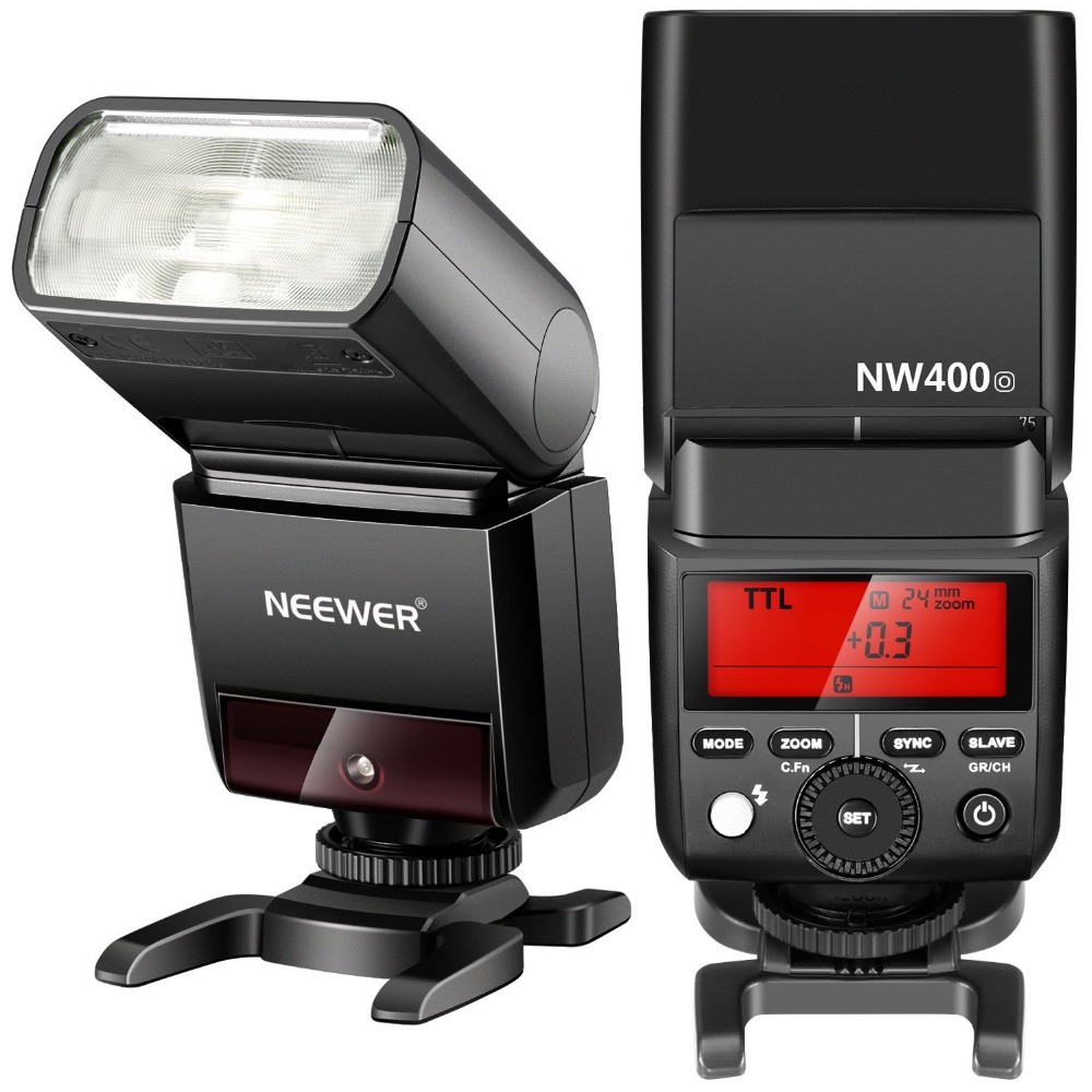 Neewer 2.4G Wireless TTL Flash HSS 1/8000s GN36 Master Slave Speedlite for Olympus/Fuji/SONY Cameras with Hard Diffuser neewer 2 4g wireless 1 8000s hss ttl master slave flash speedlite kit for sony