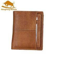 RFID кошельки из натуральной кожи мужские винтажные клатчи кошельки Блокировка двойные тонкие кошельки кошелек ID/кредитный держатель для карт