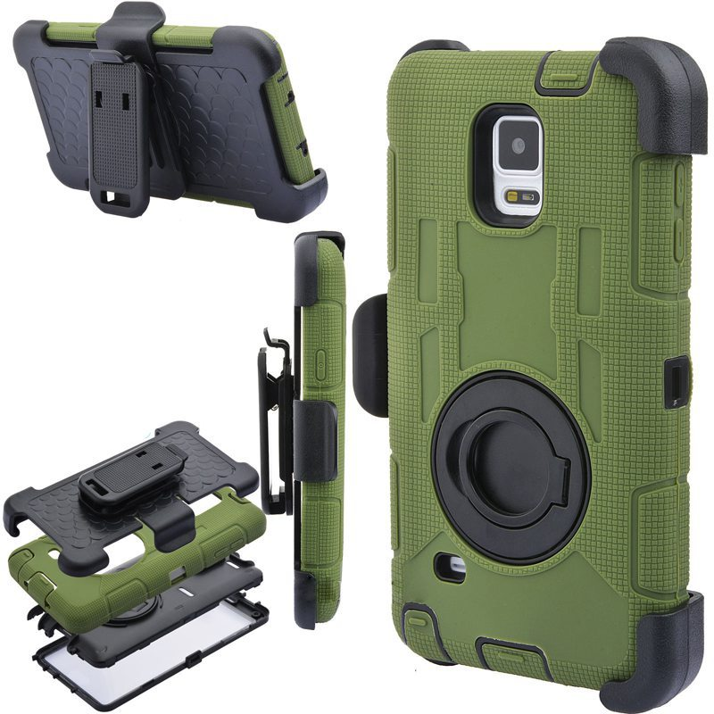 hot sale online 3e615 beaa6 US $9.89 |S6 S7 Edge Note 4 Note 8 Case 4 in 1 Rugged Armor Military+Belt  Clip Holder Shockproof Back Case For Samsung Galaxy S8 Plus Case-in Fitted  ...