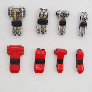 5~100PCS 1pin/2pin Scotch Lock Quick Splice H/T type Wire Connectors for 4-18AWG cabe Set Terminals Crimp Electrical Car Audio 2 t shape snap quick splice lock cable wire electrical connector crimp kit scotch waterproof tool 60 100pcs electric set terminals