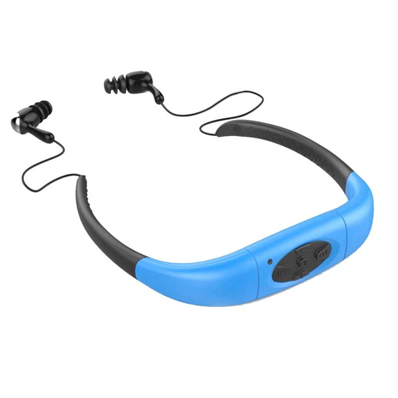 Waterproof Sports Stereo MP3 Player Support FM Radio Underwater MP3 Music Player 8GB With Earphone For Swimming Surfing Bathing
