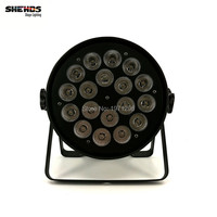 4 pcs Mini LED Par Can 18x18W RGBWA+UV DMX Stage Lights Business Light High Power Light with Professional for Party KTV Disco DJ
