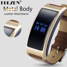 FREZEN K18 Smartband Ritmo Cardíaco Bluetooth 4.0 Pulsera Inteligente Podómetro Sleep modo Correa de Cuero O de Silicona Para IOS Android