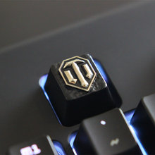 1 pcs World of Warships or TanksZinc-aluminum key cap mechanical keyboard keycaps for personalization,R4 Keycap height