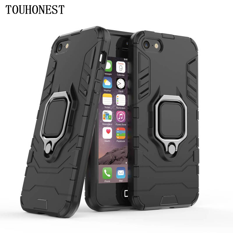 For iPhone 5s Coque Car Bracket Magnetic Full Back Cover Luxury Ring Case For iPhone 5