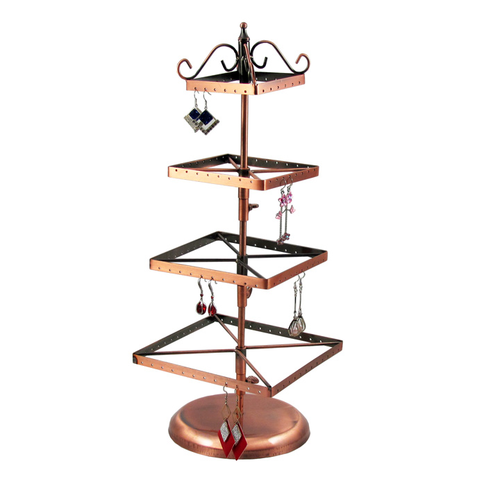 Metal Earring Display Stands TONVIC Wholesale Copper Rotating Metal Earring Jewelry Display 18