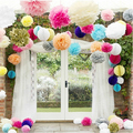 (6 inches ) 15cm Tissue Paper Poms Artificial Wedding Flowers For Decoration Flowers Paper Flowers (Assorted colors)