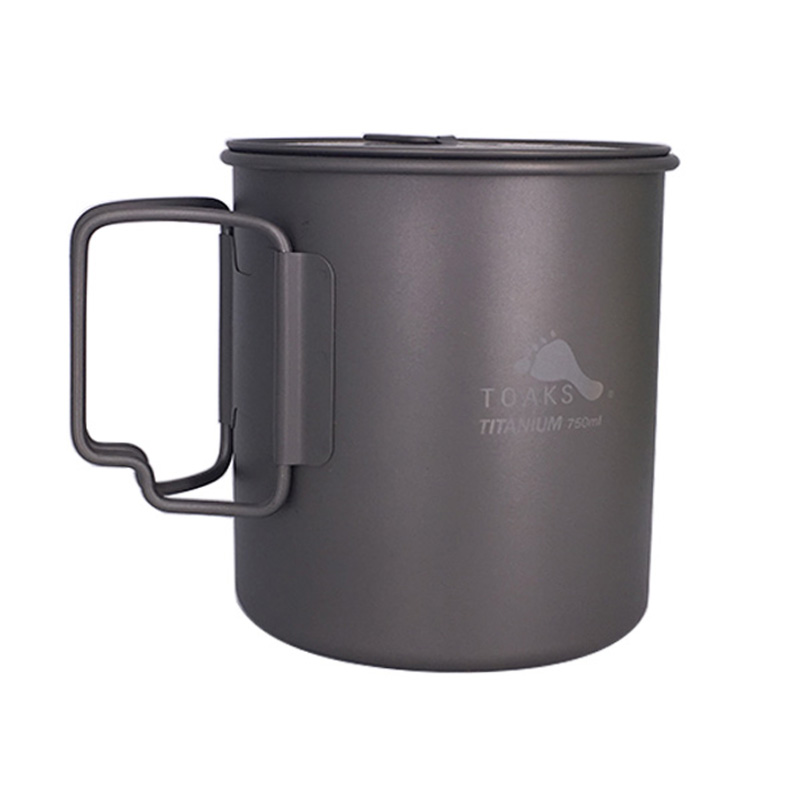 TOAKS 3in1 Pot en titane 750 ml tasses en titane portables ultra-légères Camping POT en titane-750