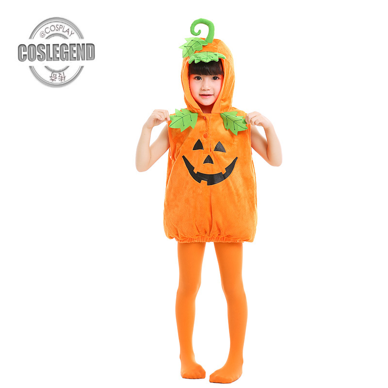Child Toddler Pumpkin Vest Costume Child Vegetable and Food Cosplay Costumes Kids Boys and Girls Halloween Party Costume