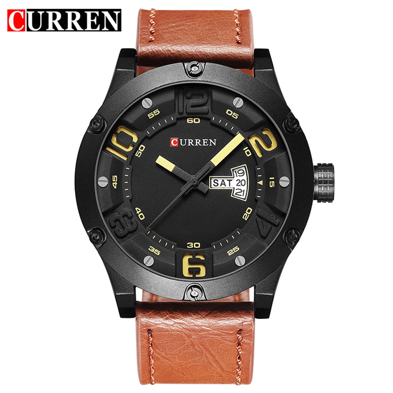 Curren Watch Fashion Top Luxury Brand Relogio Masculino Week Date Leather Strap Men Sports Watch Quartz Clock 8251 Drop Shipping new listing men watch luxury brand watches quartz clock fashion leather belts watch cheap sports wristwatch relogio male gift