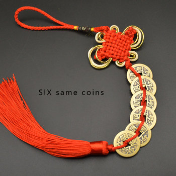 Chinese manual Knot Fengshui Lucky Charms Ancient I CHING Copper Coins Mascot Prosperity Protection Good Fortune Home Car Decor 22