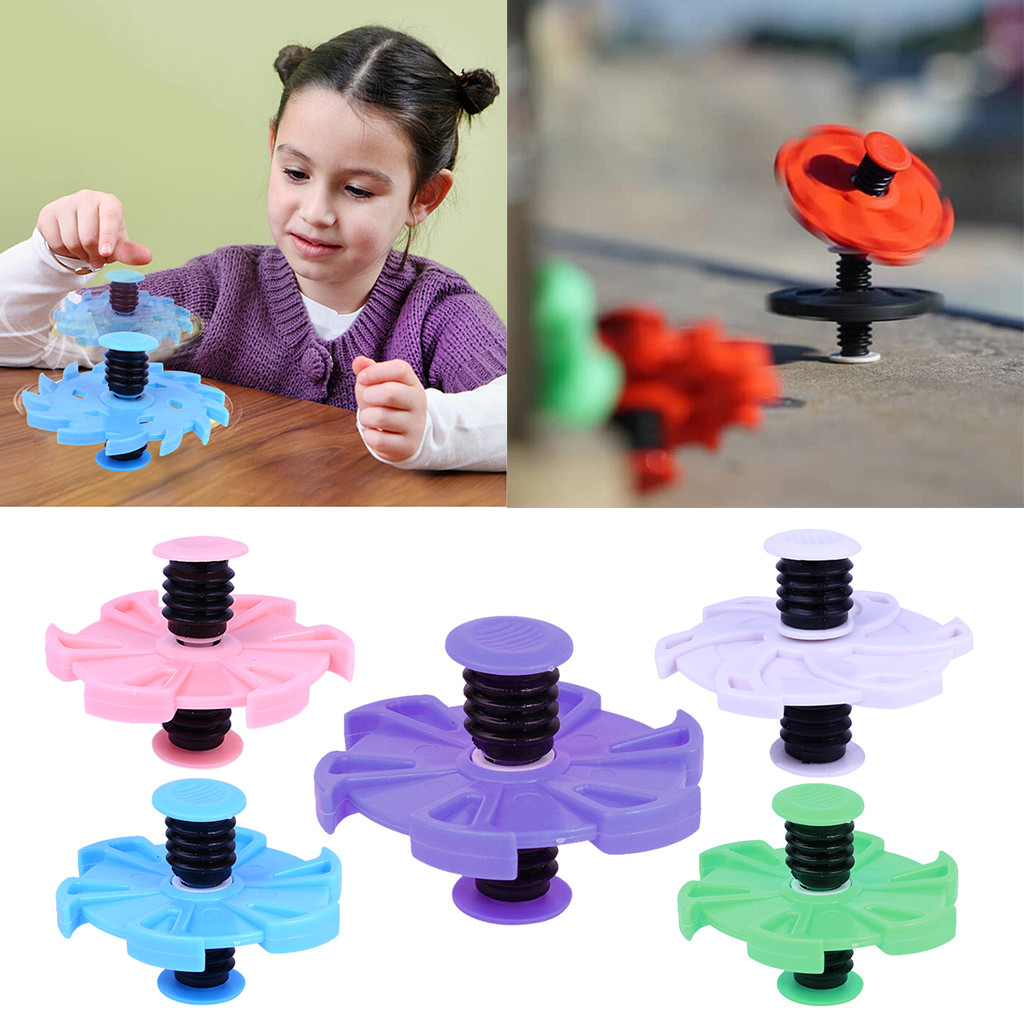 Gyroscope Toys For Children Kids Funny Bouncing Gyro Fingertip Elastic Bounce Spring Gyro Finger Interval Decompression Toy Hot Demand Exceeding Supply Toys & Hobbies Fidget Spinner